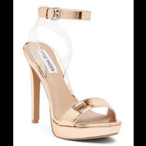 Steve Madden Casita Rose Gold Ankle Strap Sandal
